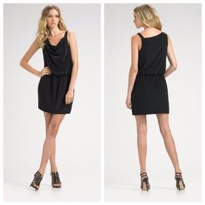 Theory Jaylyn Navy Silk Dress